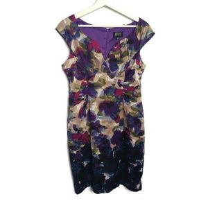 Adrianna Papell Petite Floral Sheath Dress